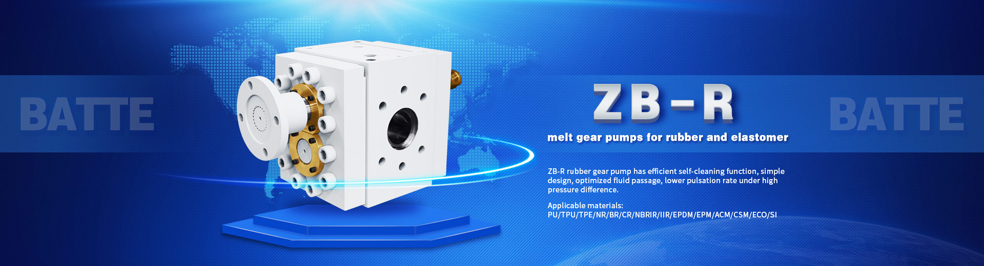 Gear melt pump for high viscosity medium